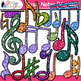 Music Notes Clip Art {Rhythm, Notation, and Symbol Graphic