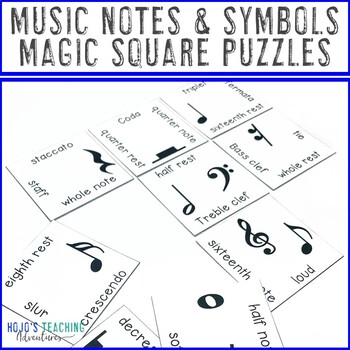 Music Notes and Symbols Center Game for Music Class