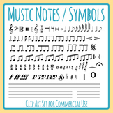 Music Notes / Symbols / Musical Notation Clip Art Set Commercial Use