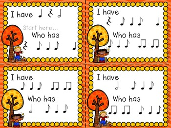 """Music Notes - Ta, Titi, Syn-co-pa """"I Have, Who Has...?"""" Rhythm Game"""