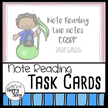 Music Notes Task Cards