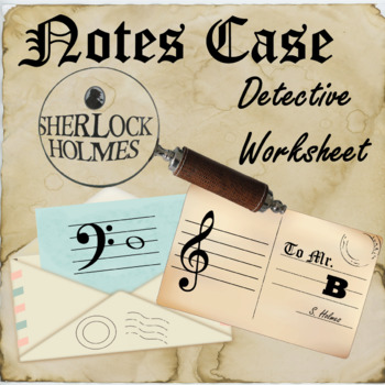 Music Notes Worksheet - Detective themed