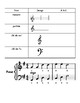 Music Notes and Rests Vocabulary sheet - French. Les notes de music