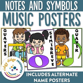 Music Notes and Symbols Classroom Display Posters