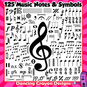 Clip Art Music Notes And Symbols Clip Art Bundle By Dancing Crayon