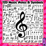 Music Notes and Symbols Clip Art   Musical Notation BUNDLE