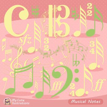 Music Notes and Symbols - Clip Art