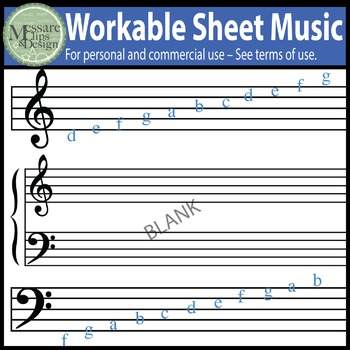 Music Notes and Composition Clip Art Pack {Messare Clips and Design}