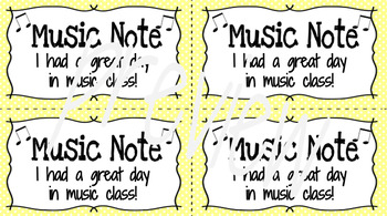Music Notes: compliment cards for the music classroom
