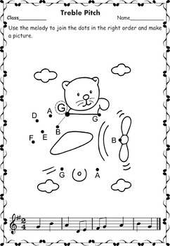 Music Notes to Dots Activity.