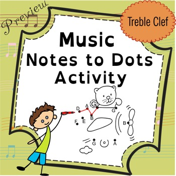 Music Notes to Dots Activity. {FREE Preview}