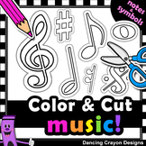 Clip Art Music Notes | Clip Art with Cutting Lines