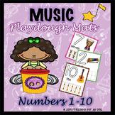 Music Number Playdough Mats
