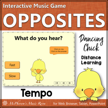 Music Opposite Fast or Slow Interactive Music Game {Dancing Chick}