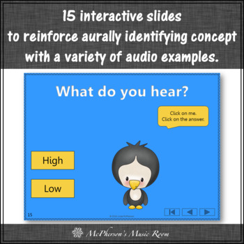 Music Opposite High Low Interactive Music Game {Dancing Penguin}