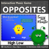 High Low Music Opposite Interactive Music Game {Fuzzy Monsters}