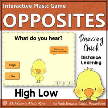Spring Music Game: Music Opposite High or Low Interactive Game {Dancing Chick}