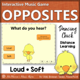 Spring Music Game: Music Opposite Loud or Soft Interactive Game {Dancing Chick}