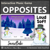 Winter Music Game: Music Opposite Loud Soft Interactive Music Game {snowflake}