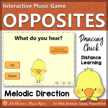 Music Opposite Melodic Direction Interactive Music Game {Dancing Chick}