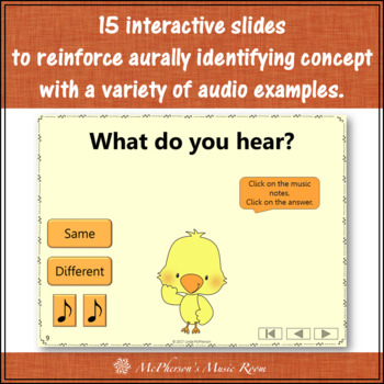 Music Opposite Same or Different Interactive Music Game {Dancing Chick}