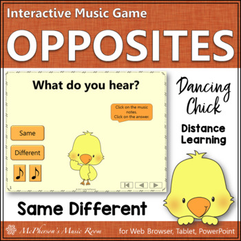 Spring Music: Music Opposite Same or Different Interactive Game {Dancing Chick}