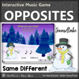 Winter Music: Music Opposite Same Different Interactive Music Game {snowflake}