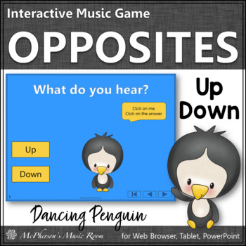 Winter Music: Music Opposite Up Down Interactive Music Game {Dancing Penguin}
