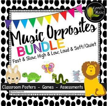 Music Opposites Bundled Set-Black & White