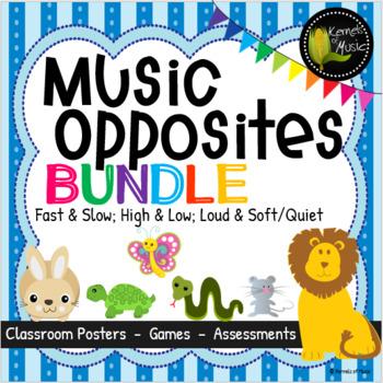 Music Opposites Bundled Set-Pastel