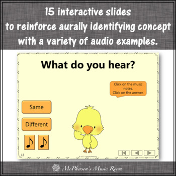 Music Opposites & Comparatives: Interactive Music Games {Dancing Chick}