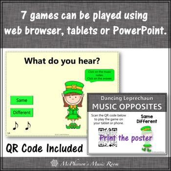 St. Patrick's Day Music Opposites Interactive Music Games {Dancing Leprechaun}
