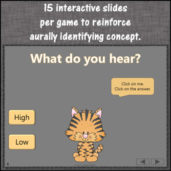 Music Opposites & Comparatives: Interactive Music Games {Dancing Tiger}