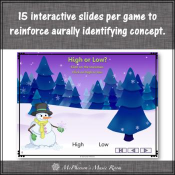 Winter Music Games: Music Opposites Interactive Music Games {snowflake}