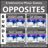 Winter Music Games: Music Opposites Interactive Music Games Bundle {snowflake}