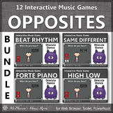 Fall Music Games ~ Music Opposites Interactive Music Games Bundle {Dracula}