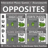 Music Opposites ~ Interactive Music Games + Assessments Set One Bundle {dragon}