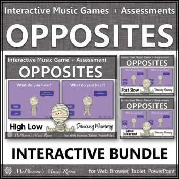 Halloween Music Opposites Interactive Music Games + Assessments {Dancing Mummy}
