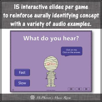 Halloween Music Opposites Interactive Music Games + Assessments {Dancing Mummy}