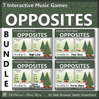 Music Opposites: Interactive Music Games {Decorate the Chr
