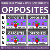 Music Opposites Interactive Music Games and Assessments {L