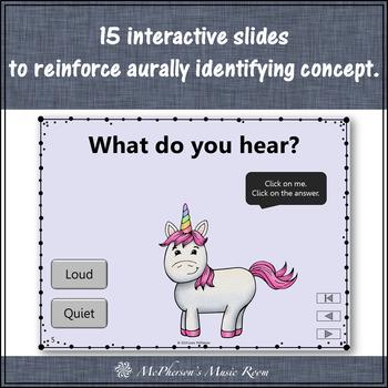 Music Opposites Loud Quiet Interactive Music Dynamics Game {Dancing Unicorn}