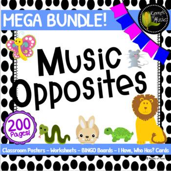 Music Opposites MEGA Bundle-Black & White