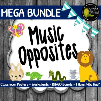 Music Opposites MEGA Bundle-Rustic Modern
