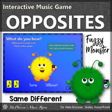 Music Opposites Same or Different Interactive Music Game {
