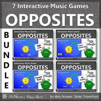 Music Opposites and Comparatives {Fuzzy Monsters}