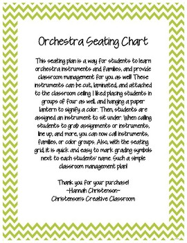 Music Orchestra Seating Chart