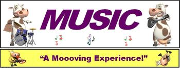 """Music Banner #3: Music- """"A Moooving Experience!"""""""