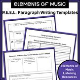Music P.E.E.L. Paragraph Writing