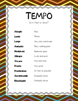 Music Pack 1 - Tempo, Notes, Dynamics, Articulation